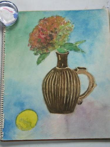 紫陽花とレモン